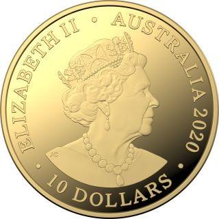 Rückseite:Australien : 10 Dollar Eureka - Australischer Goldrausch  1/10 oz  2020 PP