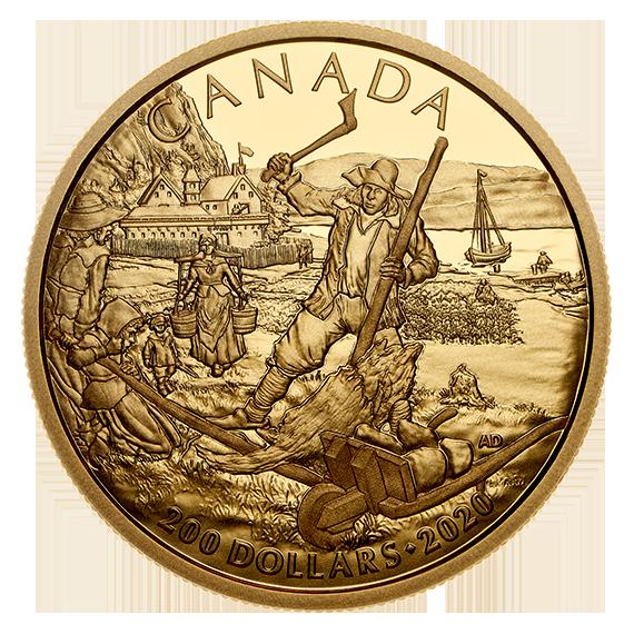 Lieferumfang:Kanada : 200 Dollar Kanadische Geschichte - Neufrankreich  2020 PP