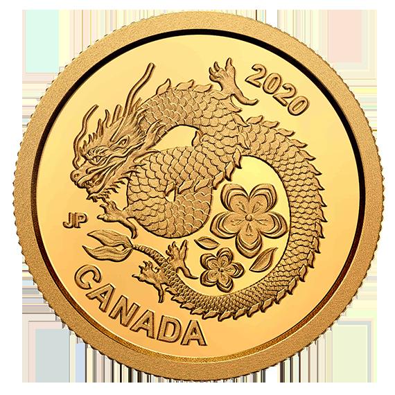 Vorderseite:Kanada : 8 Dollar Lucky Flower Dragon – im Blister  2020 PP