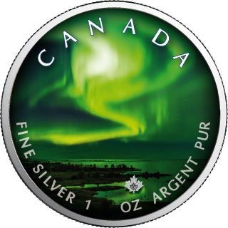 Lieferumfang:Kanada : 5 Dollar Maple Leaf - Nordlichter Yellowknife Yukon  #2  2020 Stgl.