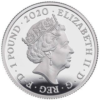 Rückseite:Großbritannien : 1 Pfund Queen - Musiklegenden 1/2 oz  2020 PP