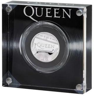 Lieferumfang:Großbritannien : 1 Pfund Queen - Musiklegenden 1/2 oz  2020 PP