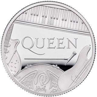 Vorderseite:Großbritannien : 1 Pfund Queen - Musiklegenden 1/2 oz  2020 PP
