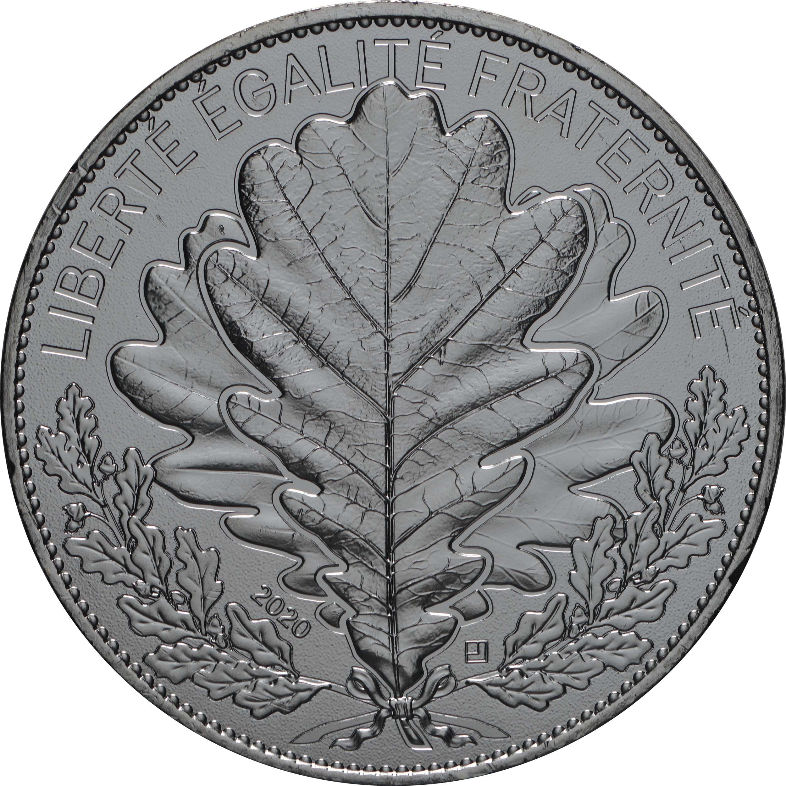 Vorderseite:Frankreich : 20 Euro Eiche  2020 Stgl.