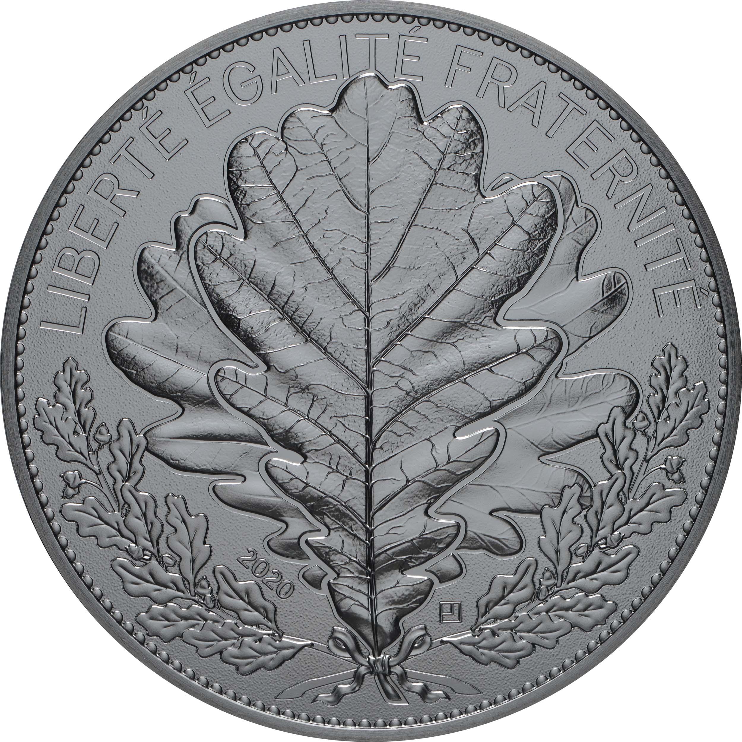 Vorderseite:Frankreich : 100 Euro Eiche  2020 Stgl.