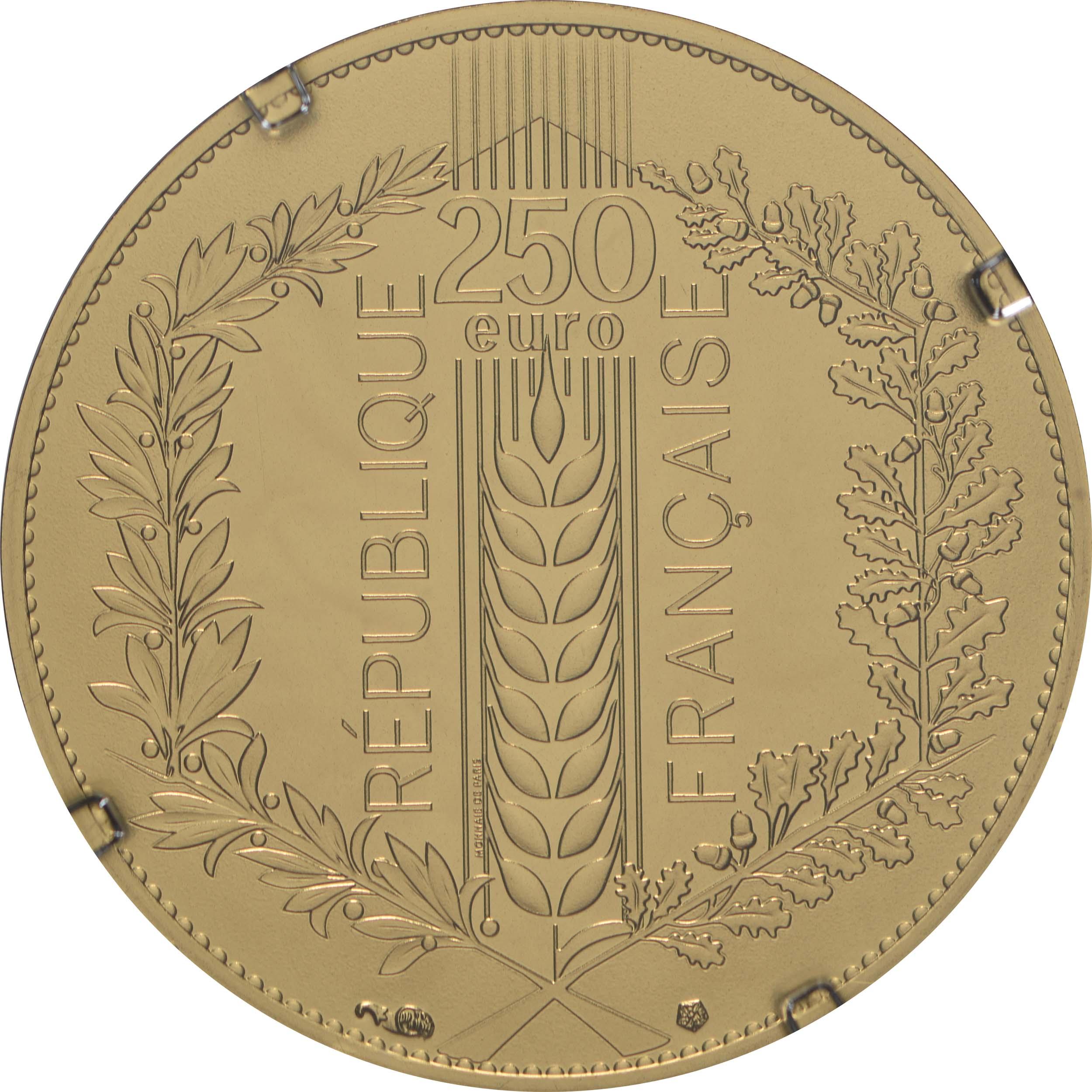 Rückseite:Frankreich : 250 Euro Eiche  2020 Stgl.