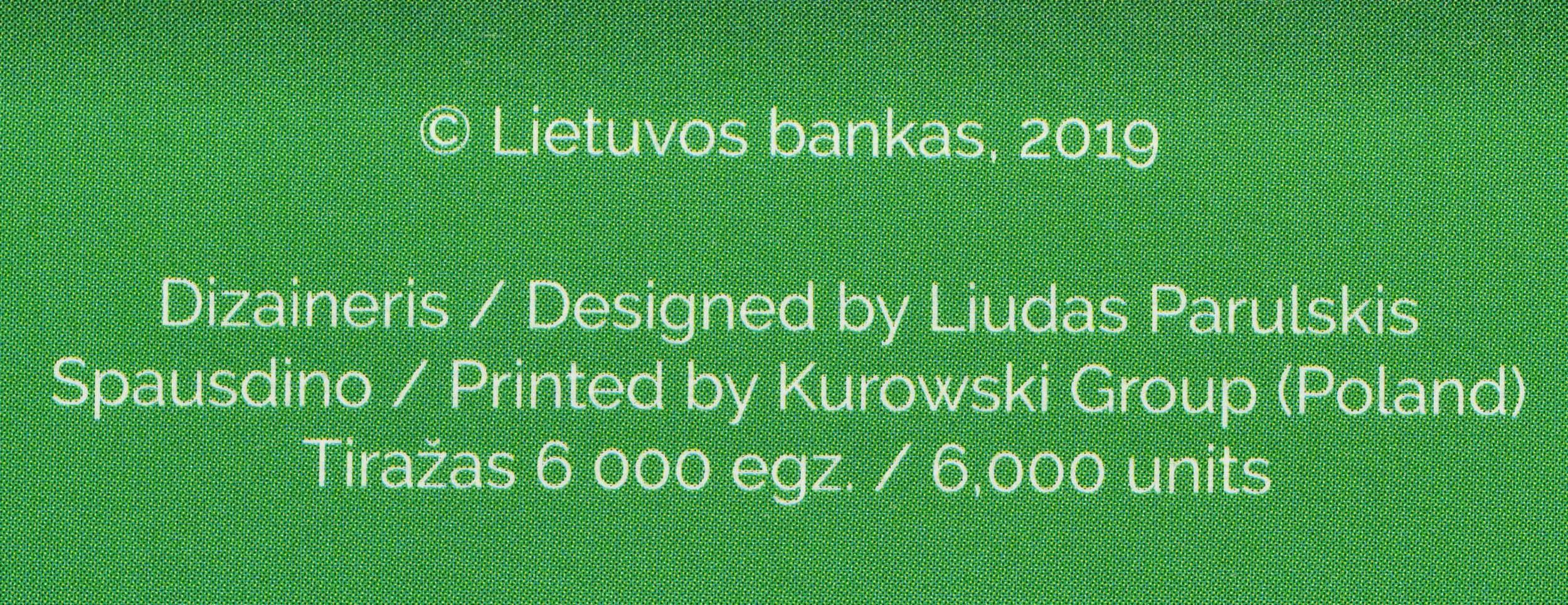 Zertifikat:Litauen : 3,88 Euro KMS Litauen  2020 Stgl.