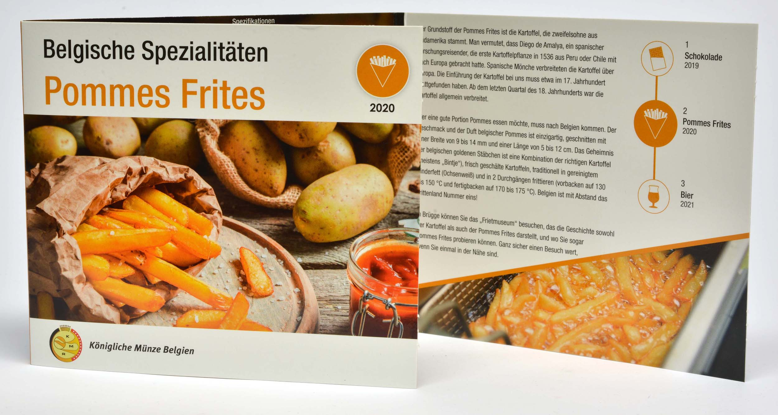 Lieferumfang:Belgien : 3,88 Euro KMS Belgien Pommes Frites  2020 Stgl.