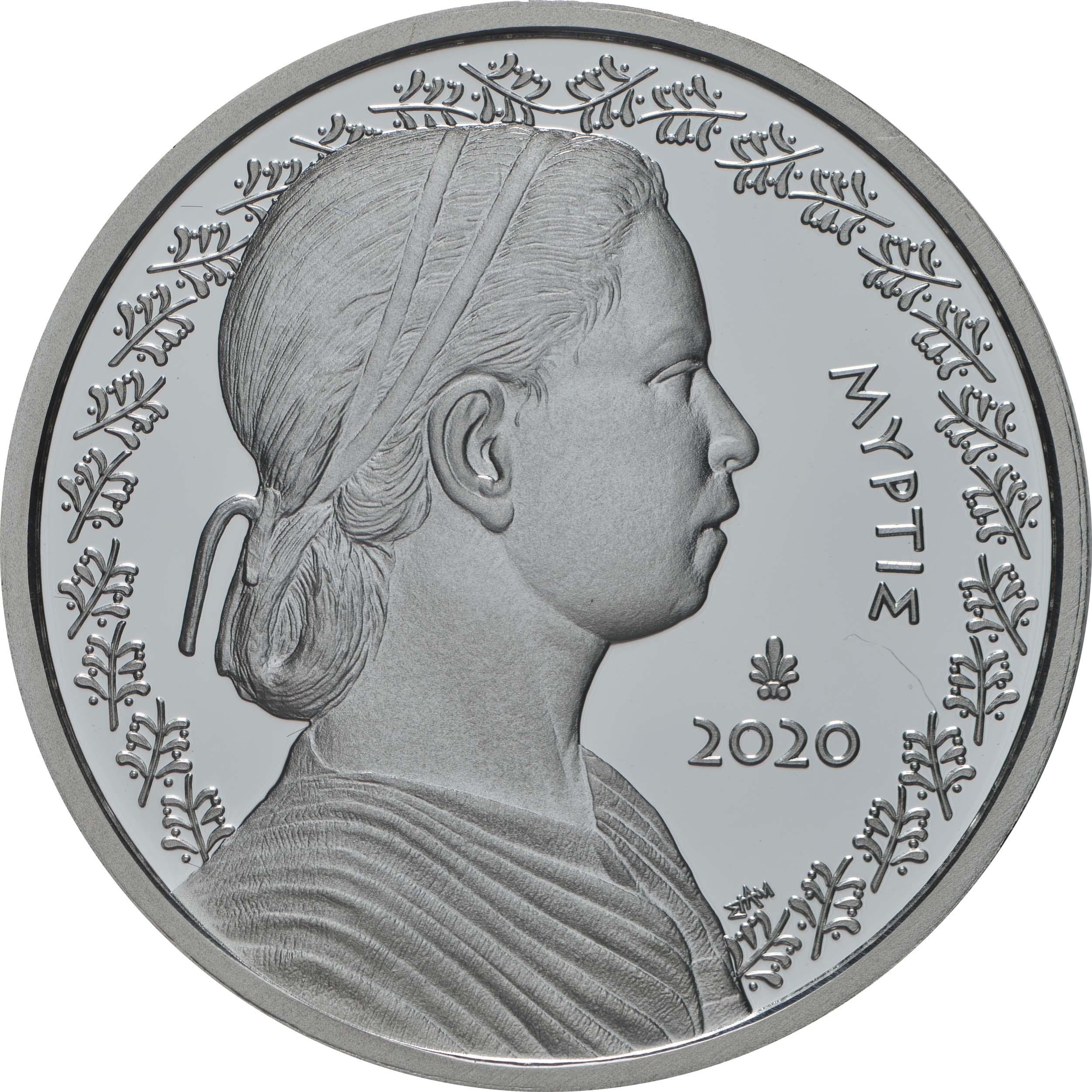 Vorderseite:Griechenland : 5 Euro Myrtis  2020 PP