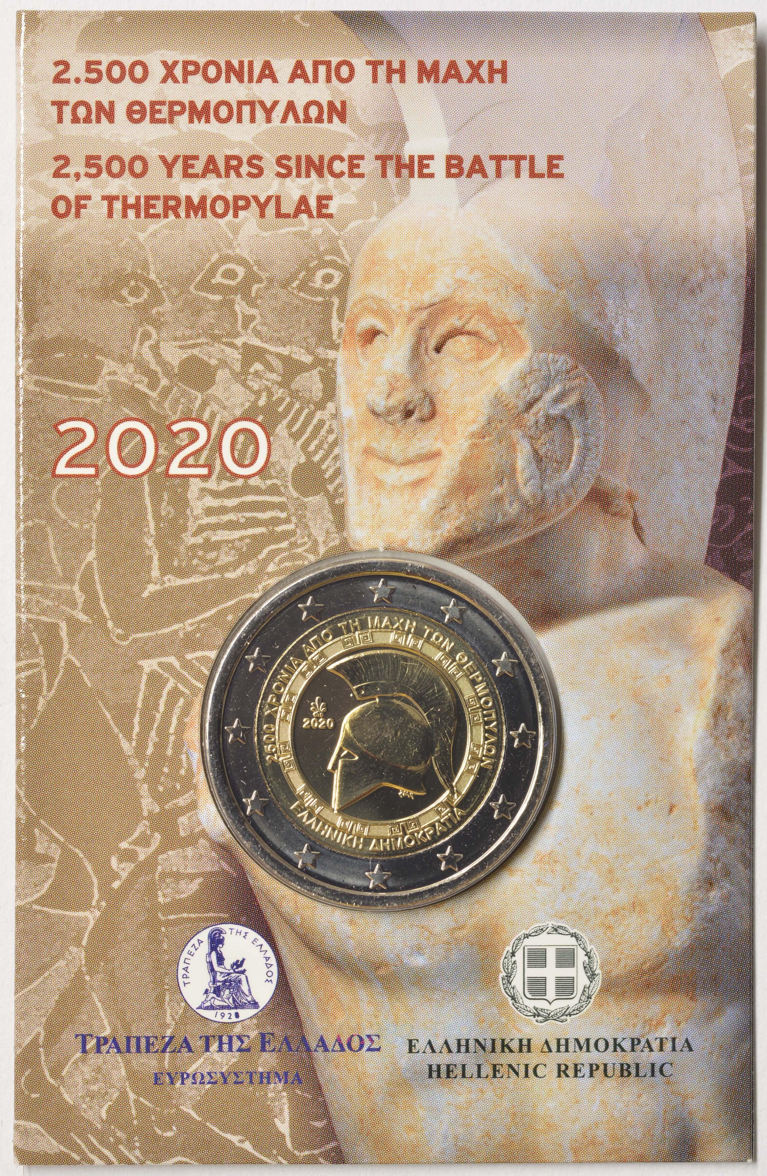 Lieferumfang:Griechenland : 2 Euro 2500 Jahre Schlacht bei den Thermopylen  2020 Stgl.