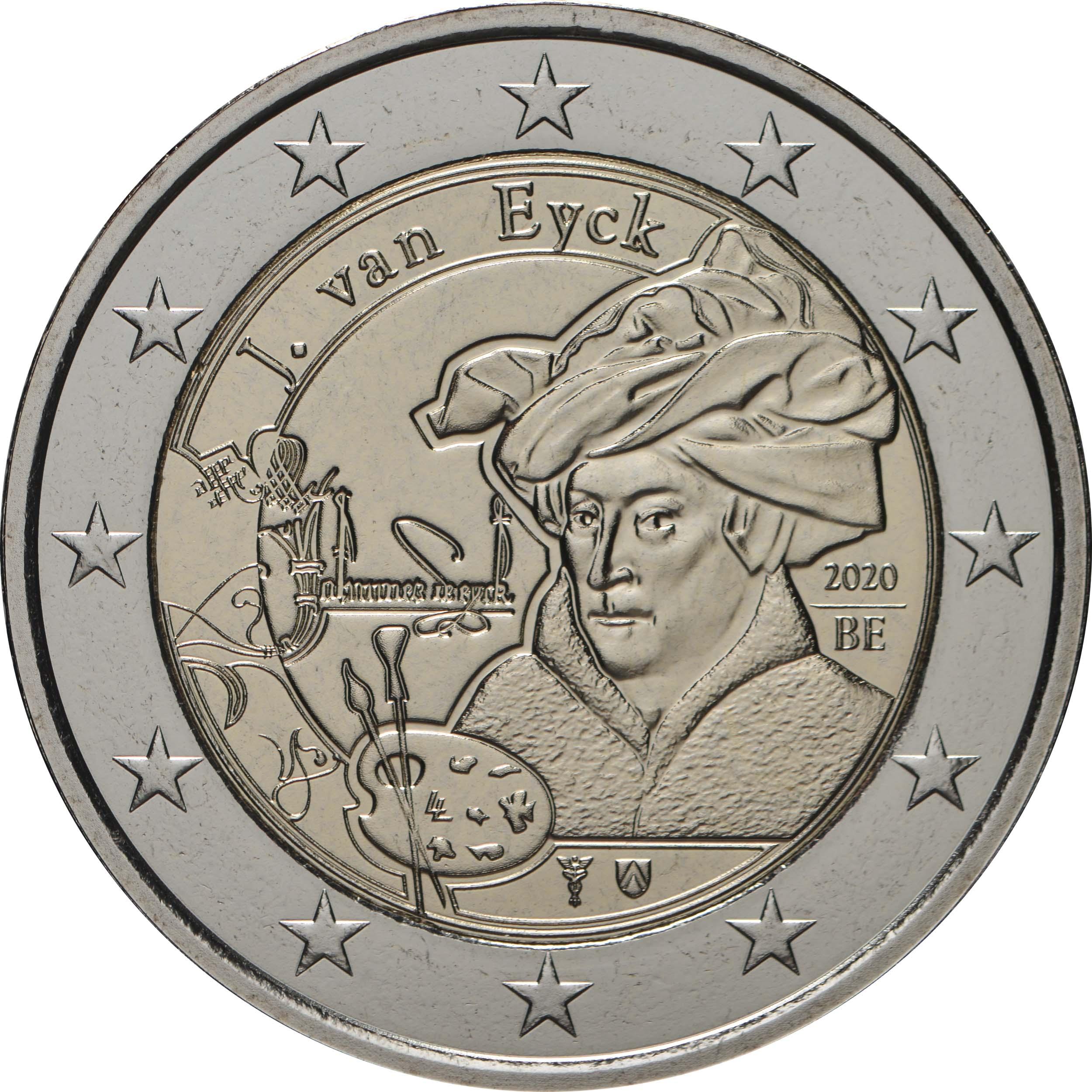 Rückseite:Belgien : 2 Euro Jan van Eyck  2020 bfr