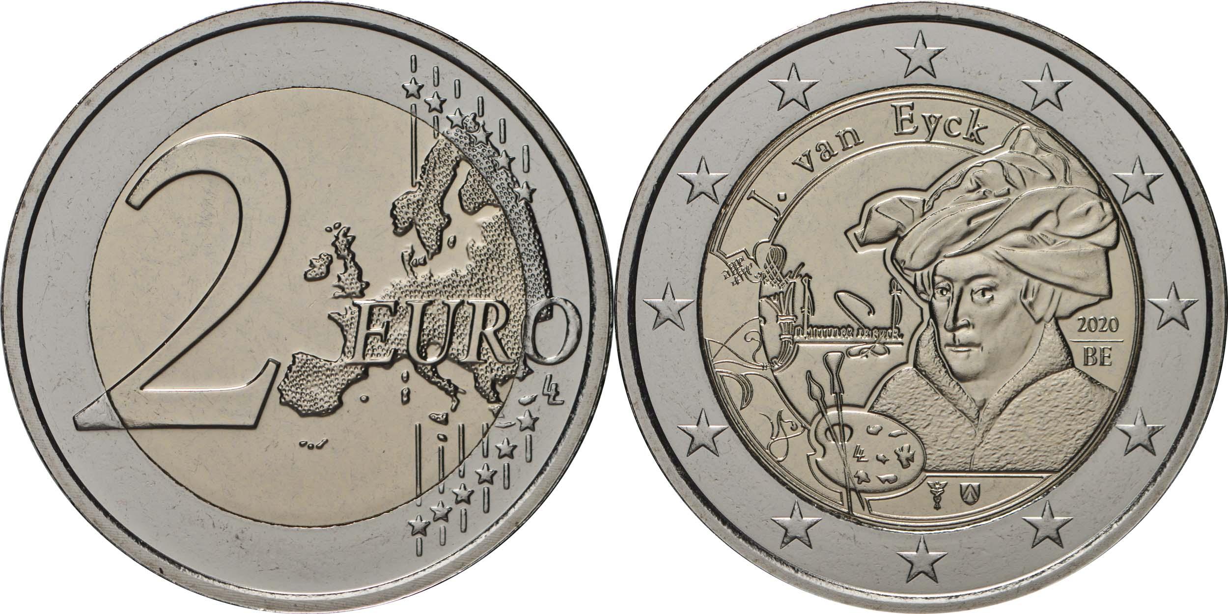 Lieferumfang:Belgien : 2 Euro Jan van Eyck  2020 bfr