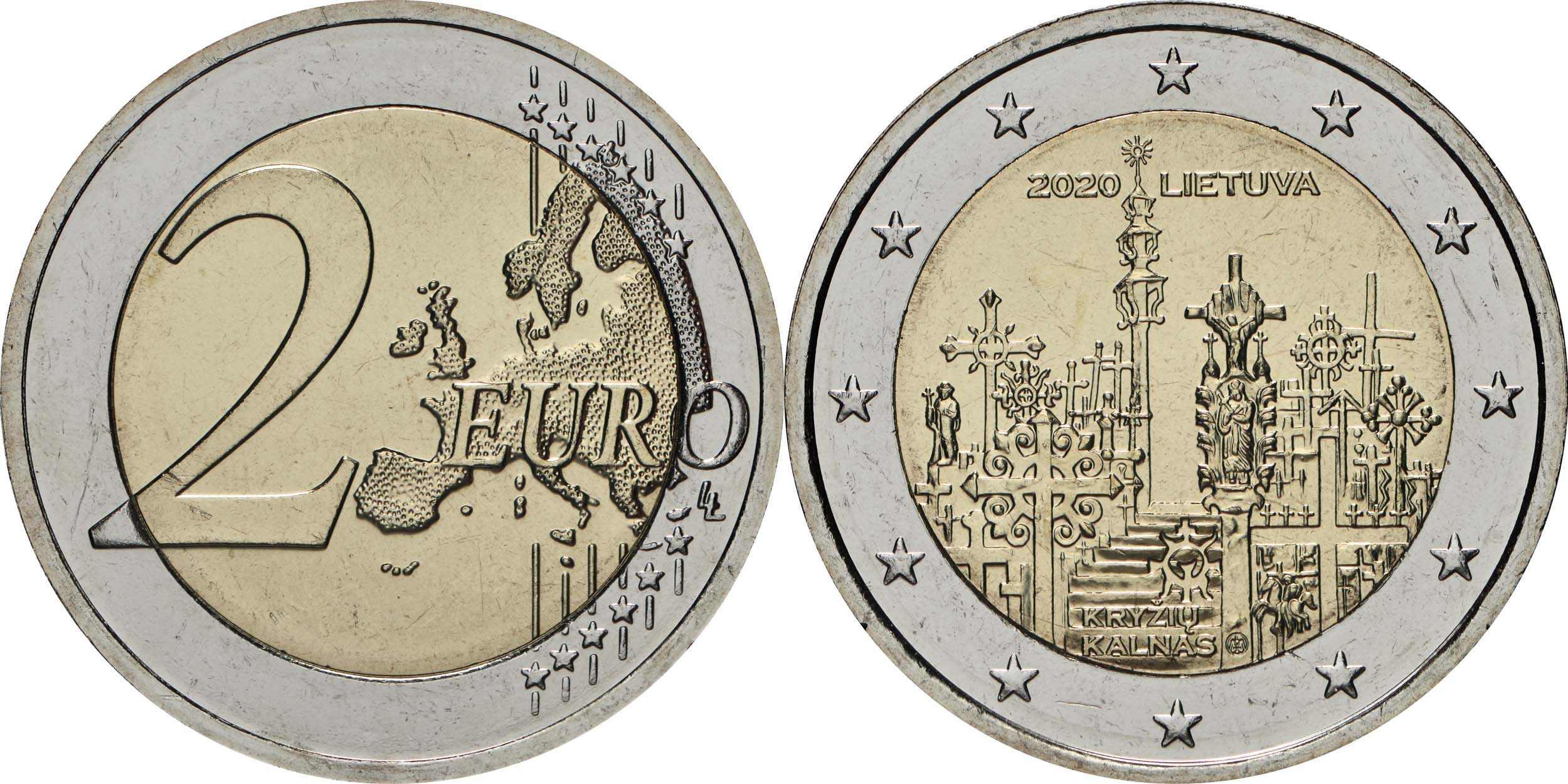 Lieferumfang:Litauen : 2 Euro Berg der Kreuze  2020 bfr