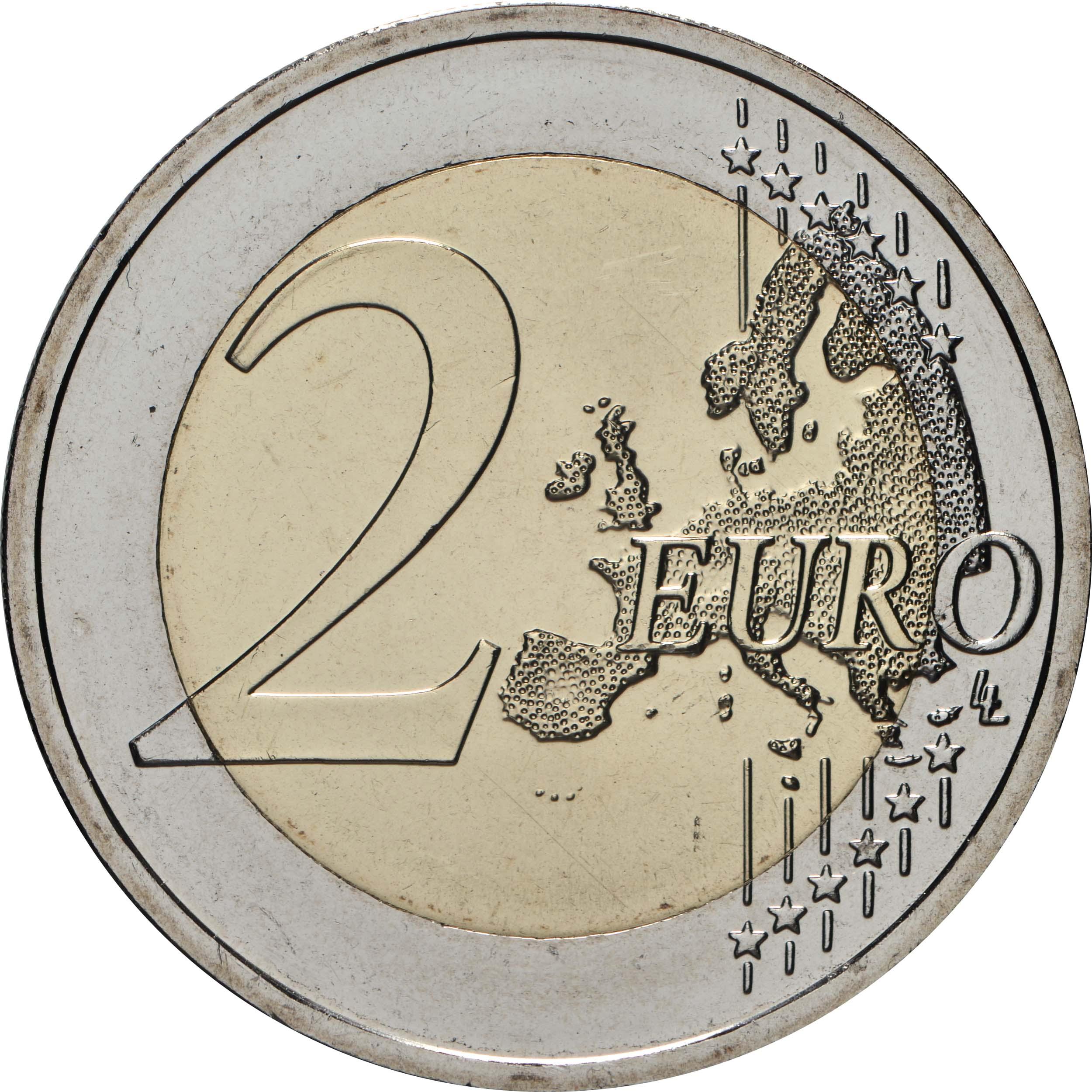Vorderseite:Slowakei : 2 Euro 20. Jahrestag des Beitritts zur OECD  2020 bfr