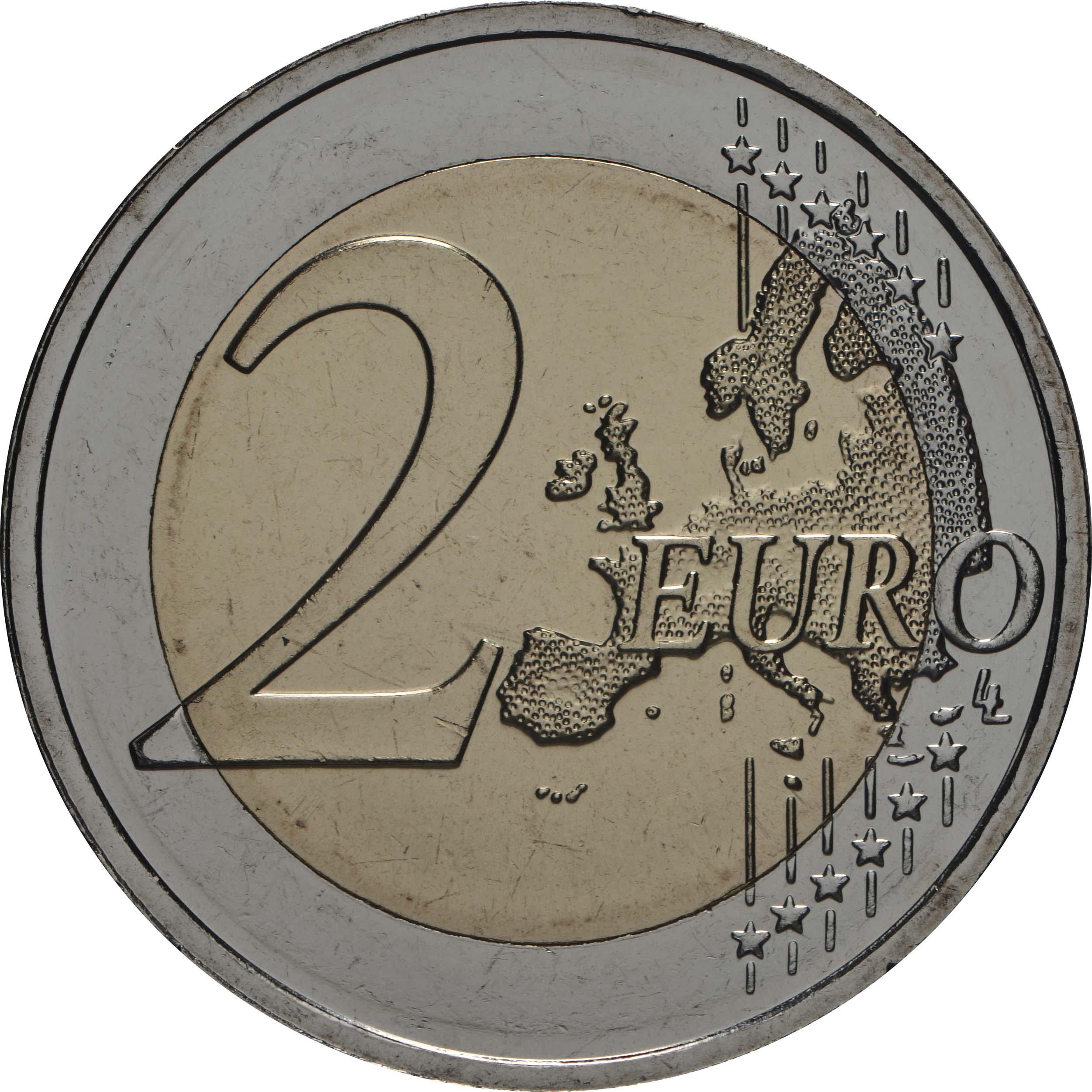 Vorderseite:Estland : 2 Euro 100 Jahre Friedensvertrag von Tartu  2020 bfr