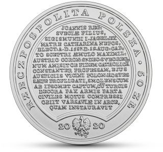Rückseite:Polen : 50 Zloty Schätze v. Stanislaw August - Sigismund Vasa  2020 Stgl.