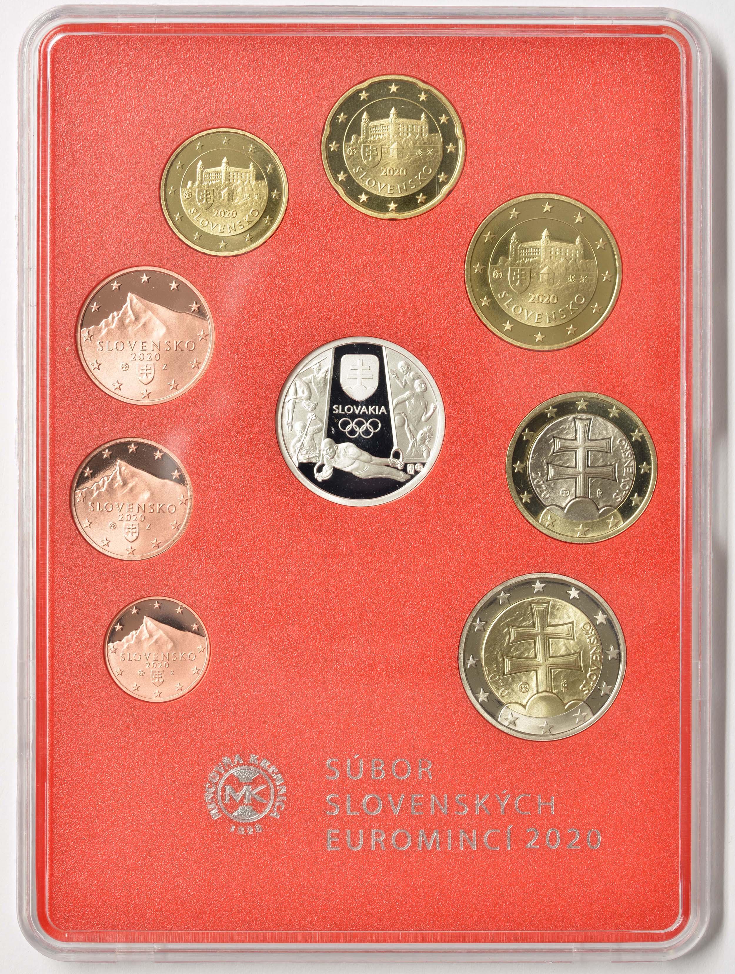Rückseite:Slowakei : 3,88 Euro KMS Slowakei Sommerolympiade Tokio  2020 PP