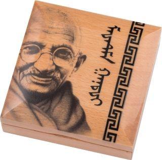 Rückseite:Mongolei : 1000 T Mahatma Gandhi  (Schwarz/Weiß-Effekt)  2020 PP