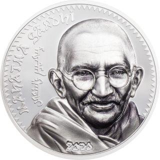Lieferumfang:Mongolei : 1000 T Mahatma Gandhi  (Schwarz/Weiß-Effekt)  2020 PP
