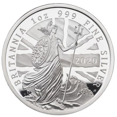 Lieferumfang:Großbritannien : 2 Pound Britannia 1 Oz  2020 PP