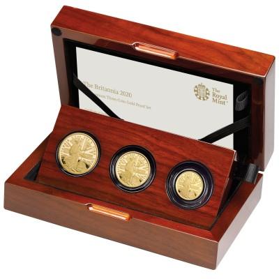 Lieferumfang:Großbritannien : 85 Pound Britannia Premium 3-Coin Set  2020 PP