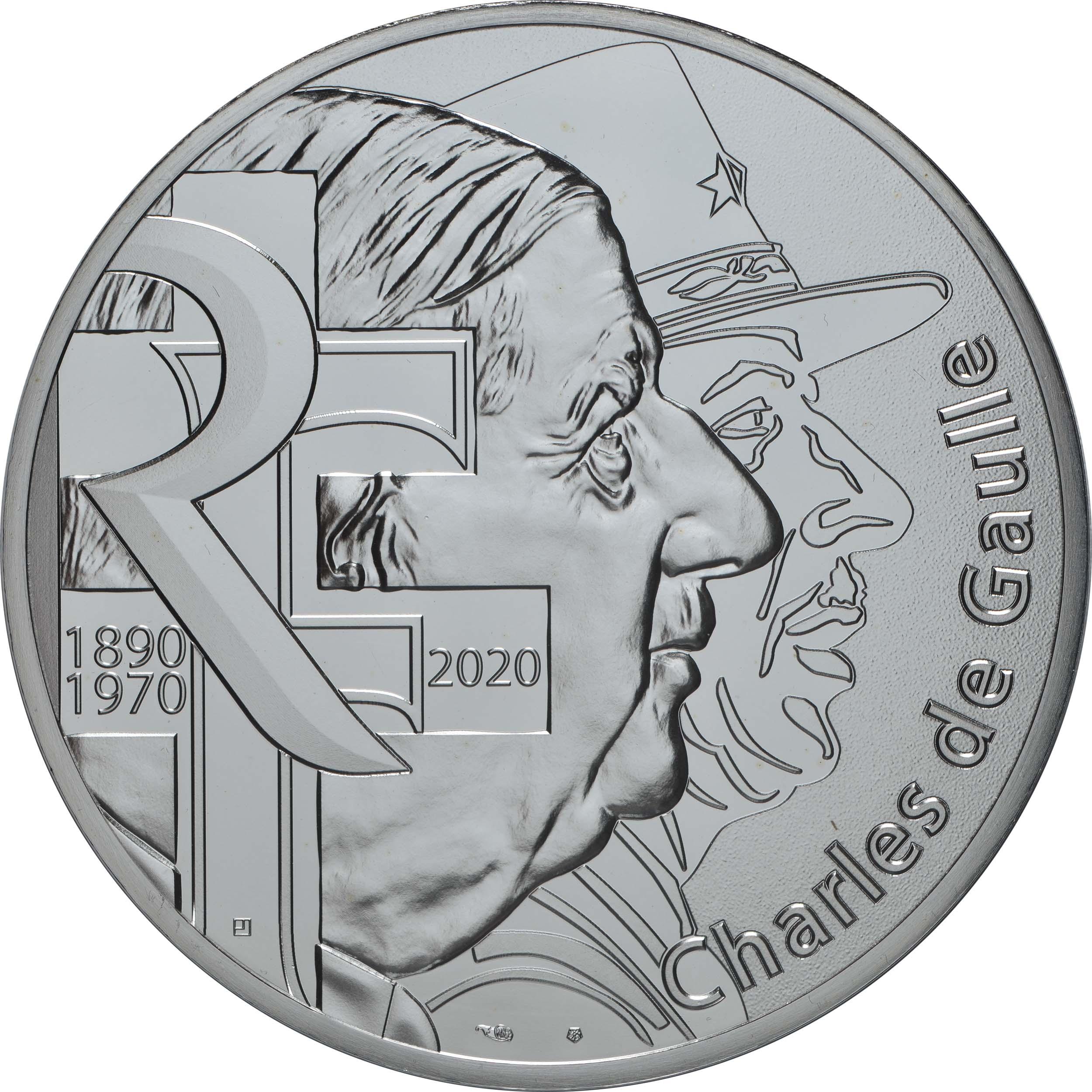 Vorderseite:Frankreich : 100 Euro Charles de Gaulle  2020 Stgl.