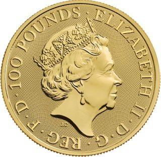Vorderseite:Großbritannien : 100 Pfund Royal Arms   1 oz  2020 Stgl.