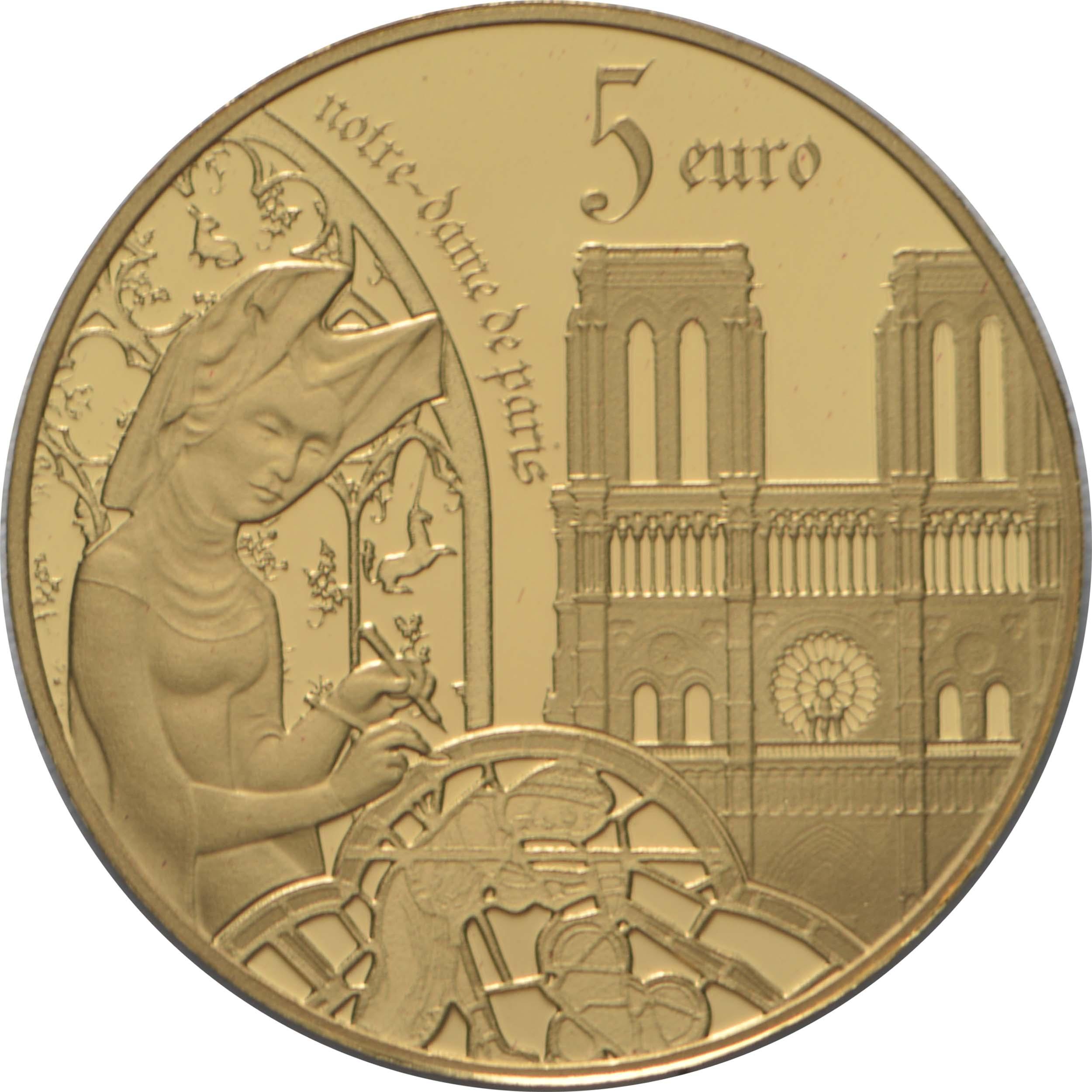Vorderseite:Frankreich : 5 Euro Gotik  2020 PP