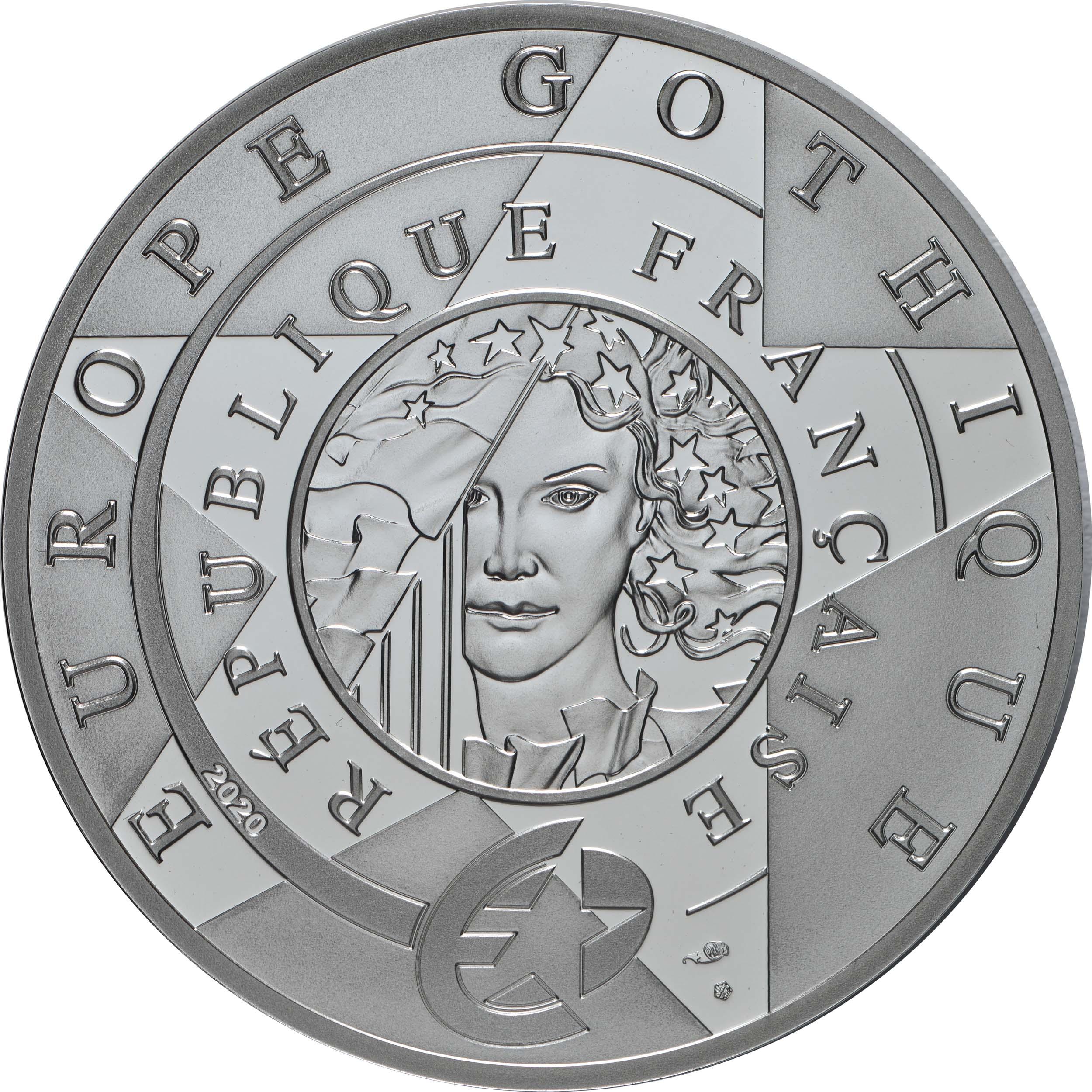 Rückseite:Frankreich : 10 Euro Gotik  2020 PP