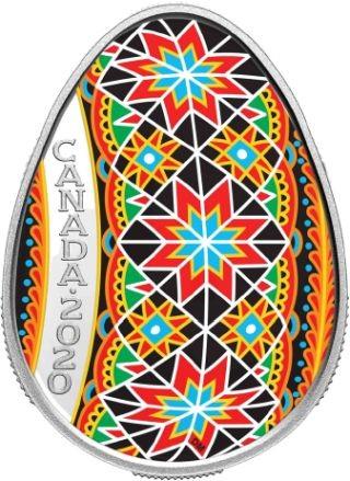 Lieferumfang:Kanada : 20 Dollar Traditional Pysanka - eiförmig  2020 PP