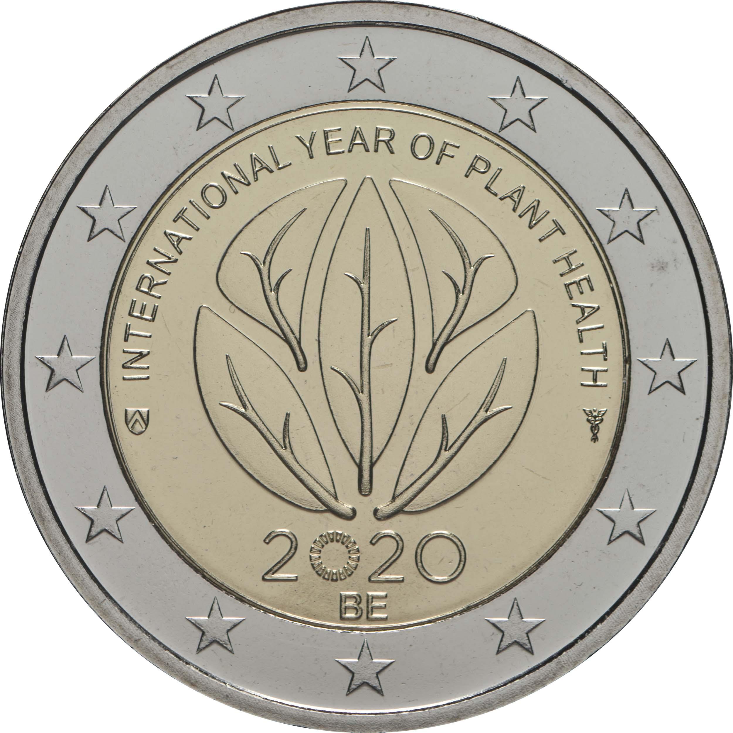 Rückseite:Belgien : 2 Euro Internationales Jahr der Pflanzengesundheit  2020 Stgl.