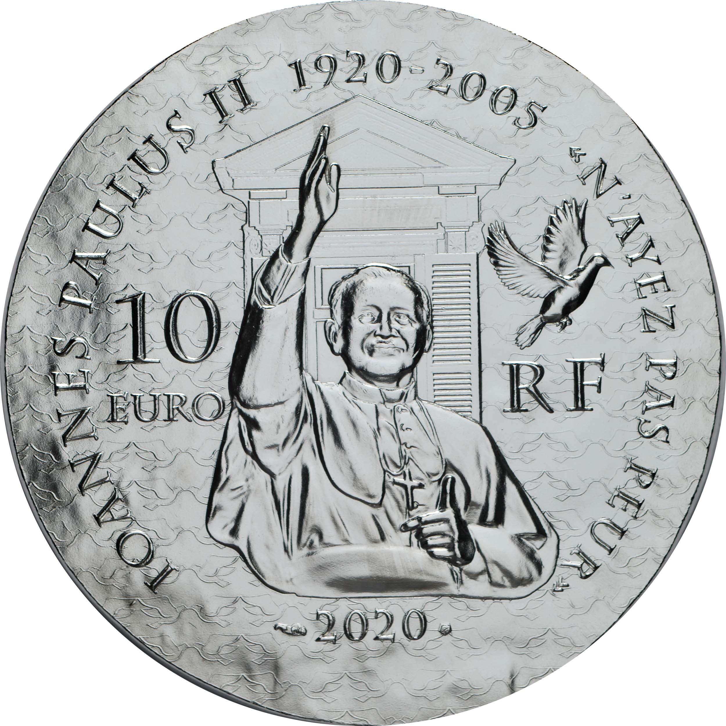Rückseite:Frankreich : 10 Euro Schwester Emmanuelle  2020 PP