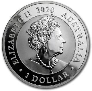 Vorderseite:Australien : 1 Dollar Schwan  2020 Stgl.