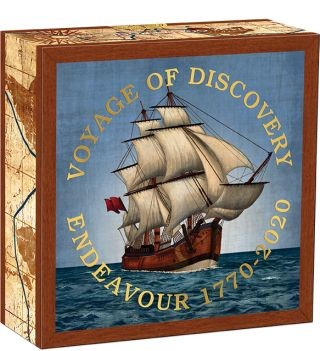 Vorderseite:Australien : 25 Dollar Endeavour - Voyage of Discovery   1/4 oz  2020 PP