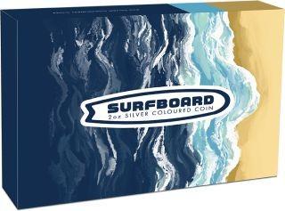 Vorderseite:Australien : 2 Dollar Surfboard   2 oz  2020 Stgl.
