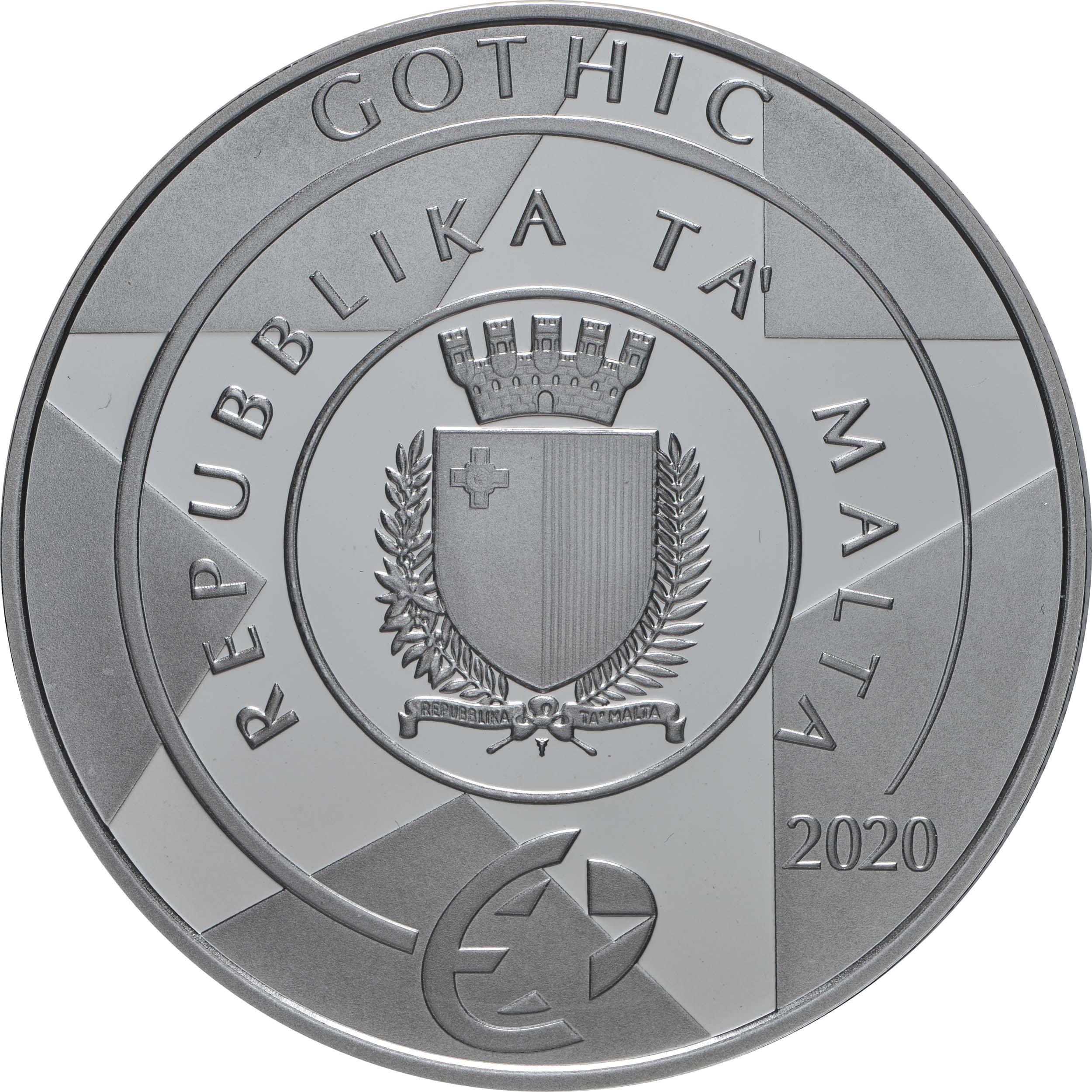 Rückseite:Malta : 10 Euro Gotik  2020 PP