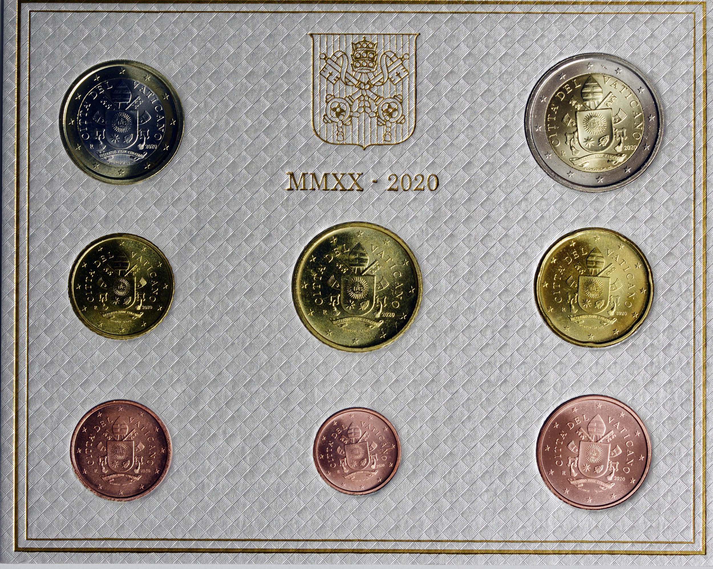 Rückseite:Vatikan : 3,88 Euro KMS Vatikan  2020 Stgl.