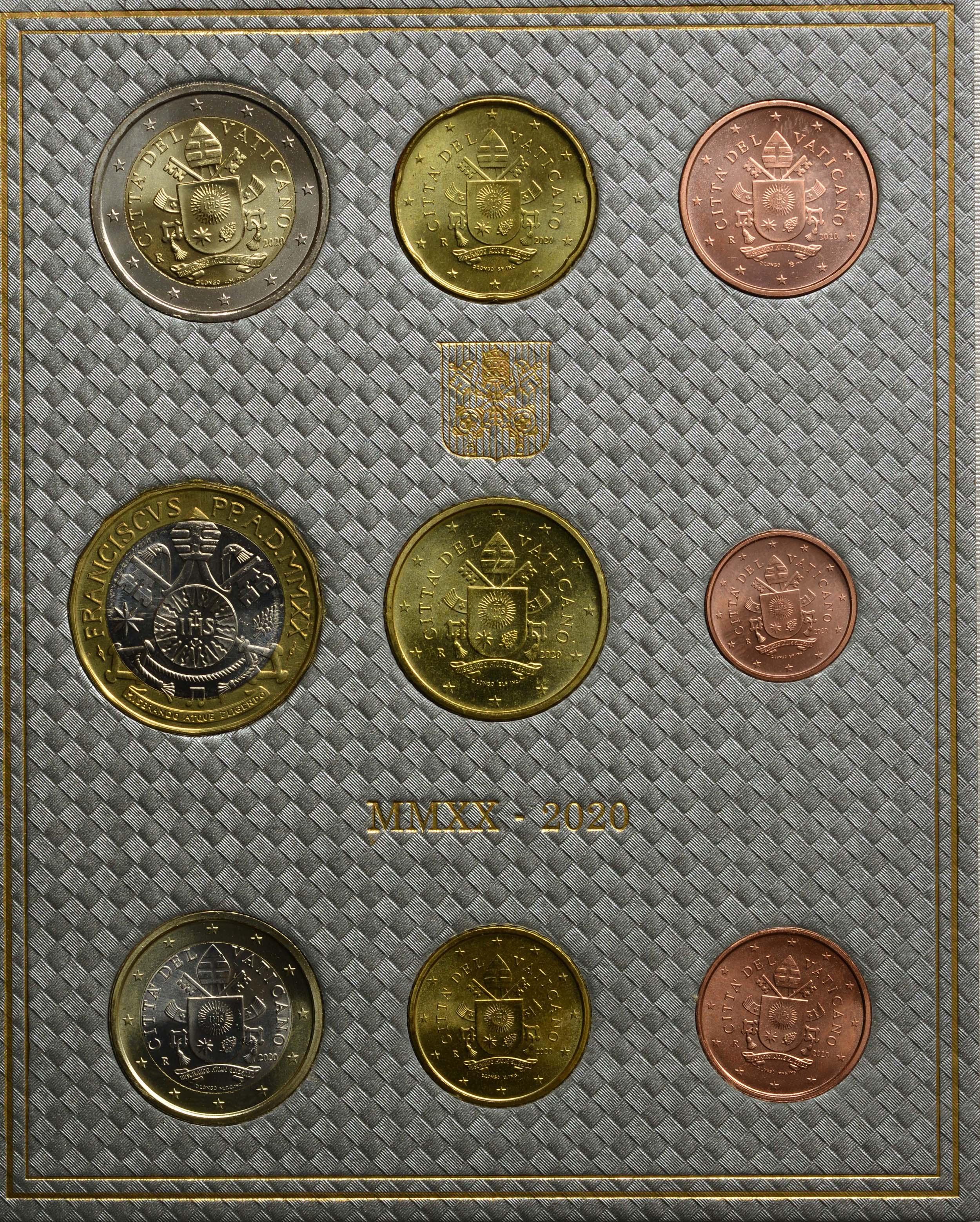 Rückseite:Vatikan : 8,88 Euro KMS Vatikan mit 5 Euro Beethoven  2020 Stgl.