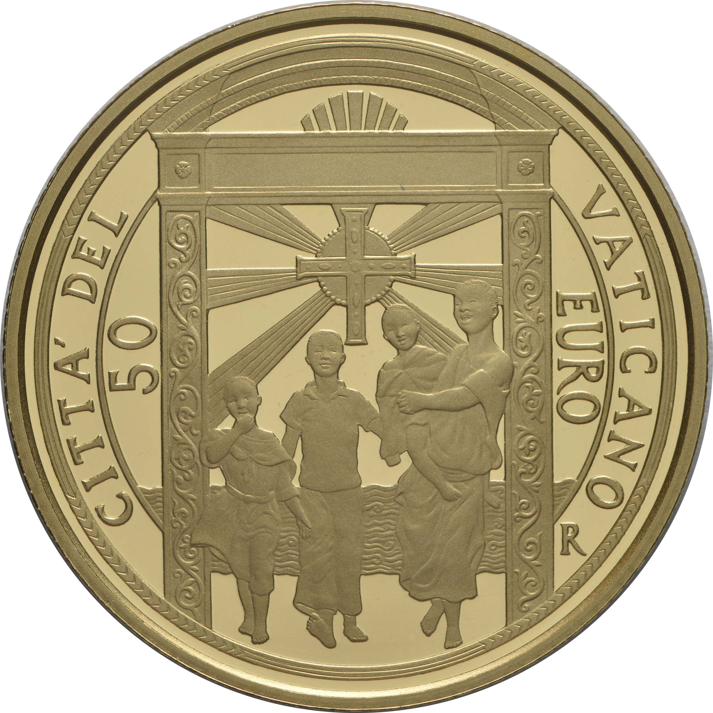 Vorderseite:Vatikan : 53,88 Euro KMS Vatikan mit 50 Euro Gedenkmünze  2020 PP
