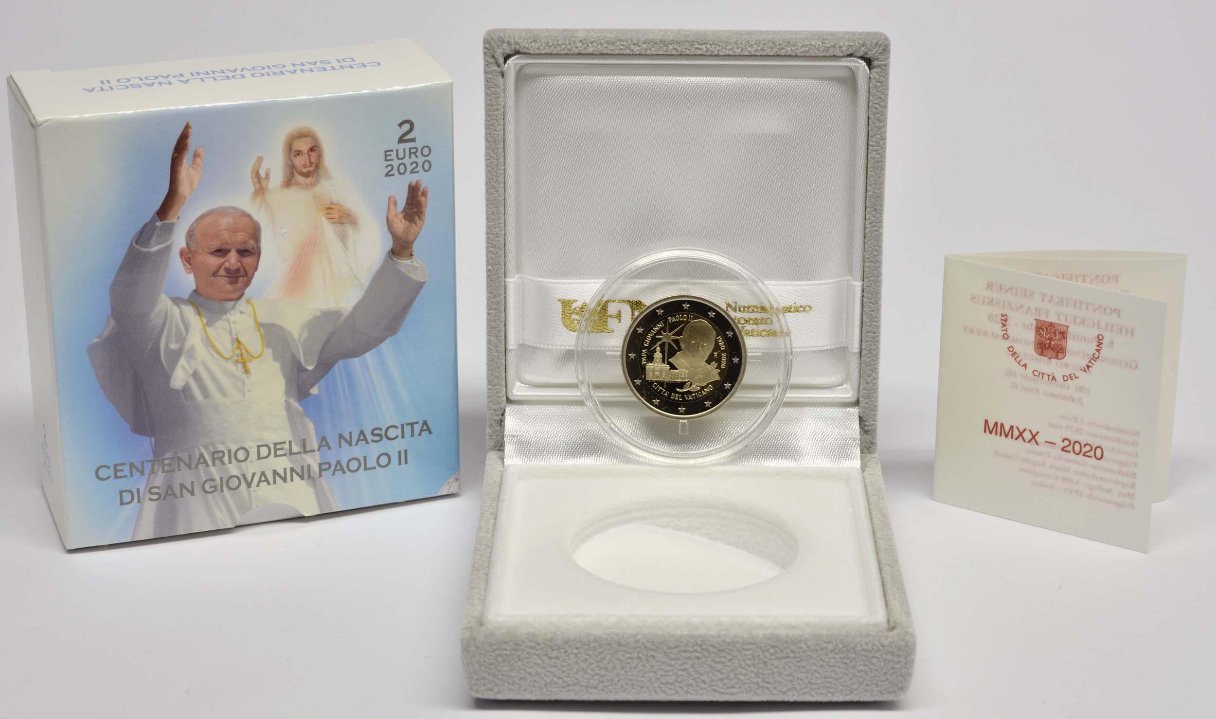 Lieferumfang:Vatikan : 2 Euro 100. Geburtstag von Johannes Paul II.  2020 PP