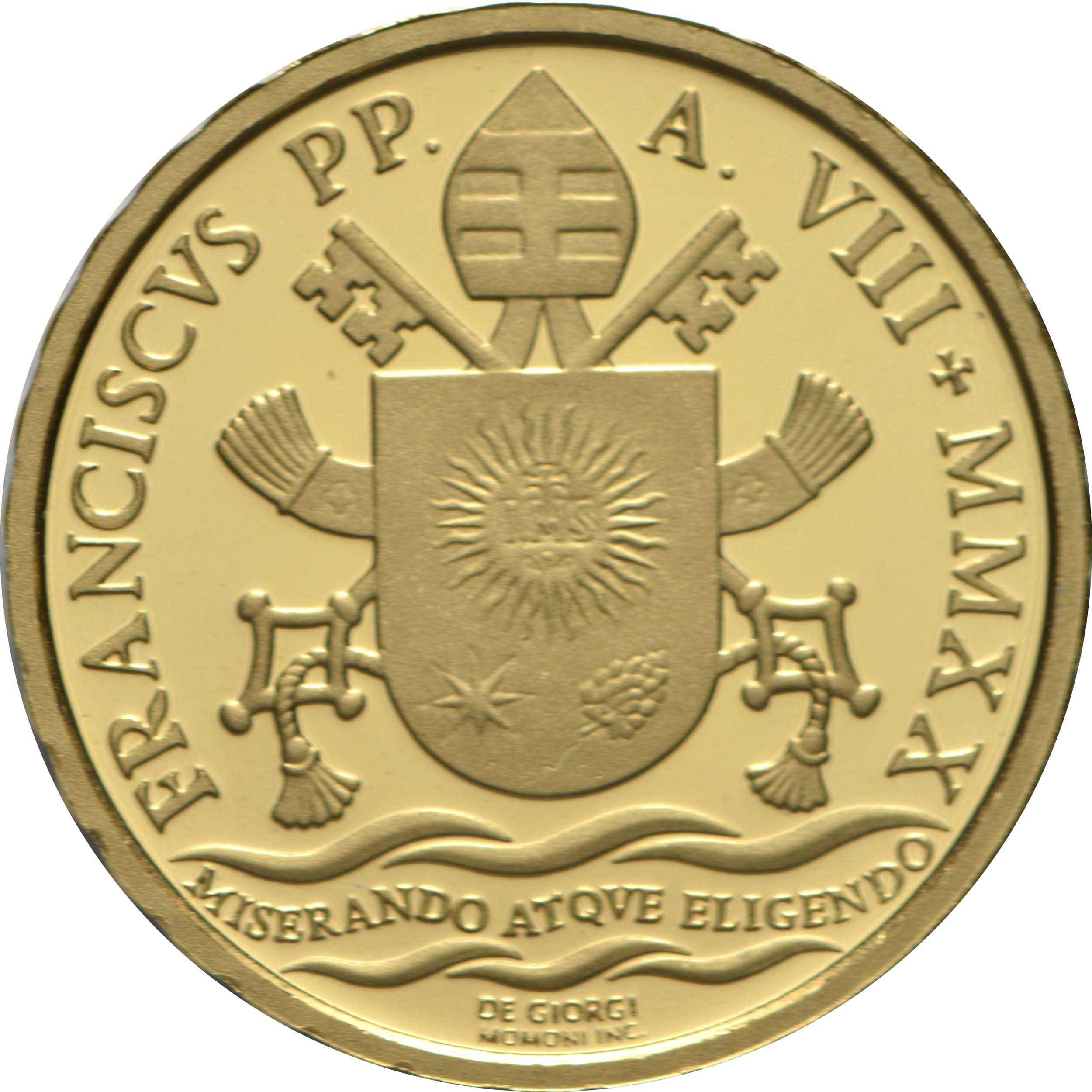 Rückseite:Vatikan : 10 Euro Taufe  2020 PP