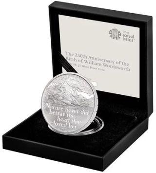 Lieferumfang:Großbritannien : 5 Pfund 250. Geburtstag William Wordsworth  2020 PP