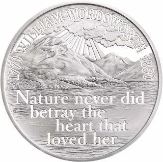 Vorderseite:Großbritannien : 5 Pfund 250. Geburtstag William Wordsworth  2020 PP