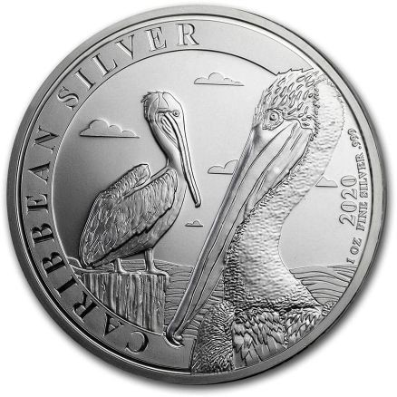 Lieferumfang:Barbados : 1 Dollar Karibischer Pelikan 1 oz  2020 Stgl.
