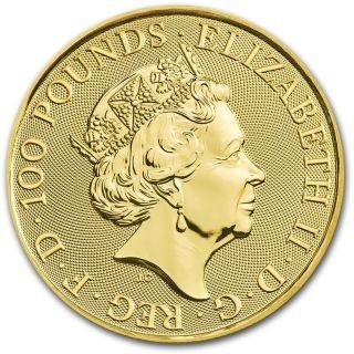 Vorderseite:Großbritannien : 100 Pfund Queen - Rocklegenden - Bullion 1 oz  2020 Stgl.