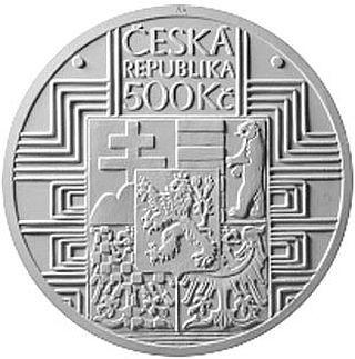 Vorderseite:Tschechische Republik : 500 Kronen 100 Jahre Tschechoslowakische Verfassung  2020 PP