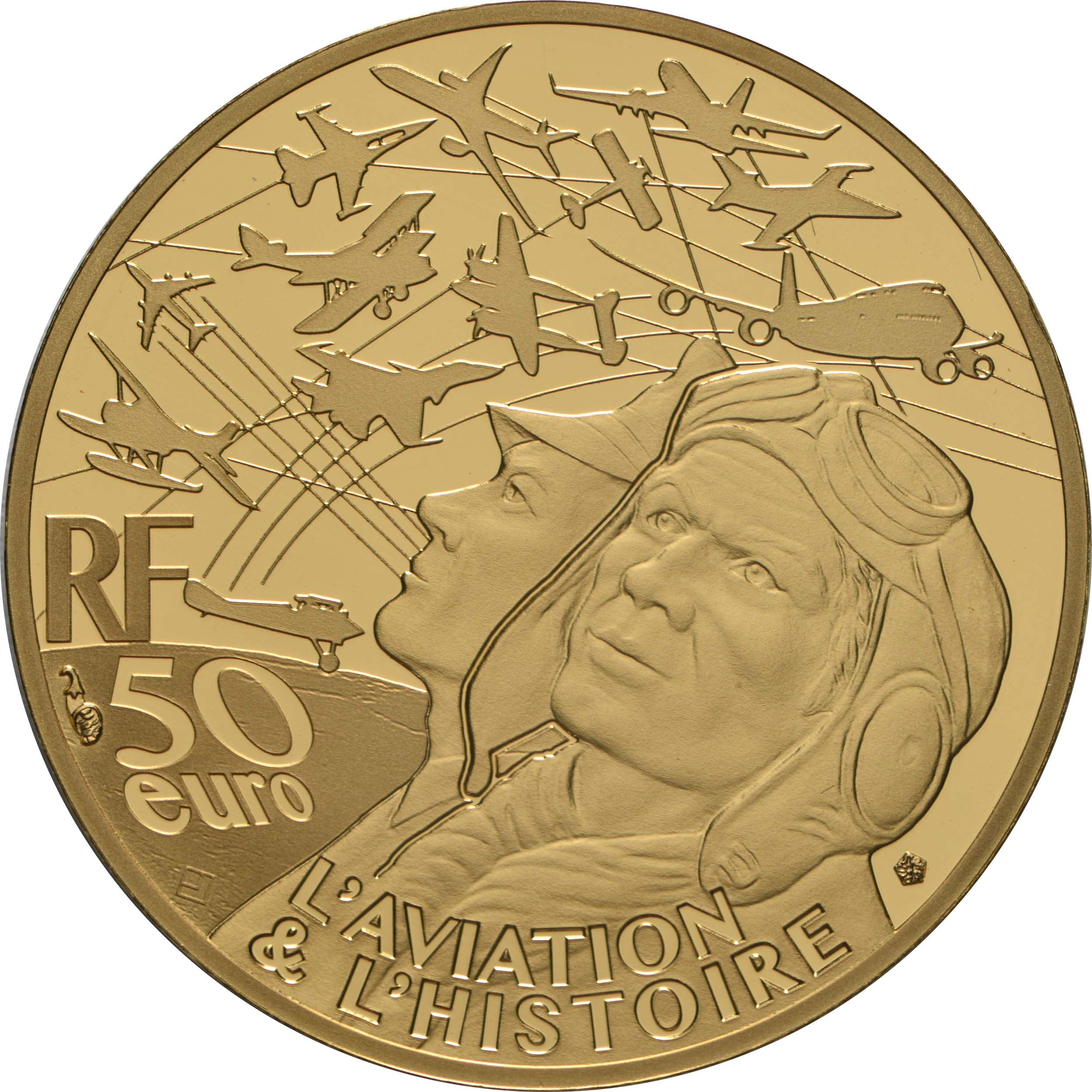 Rückseite:Frankreich : 50 Euro Spitfire  2020 PP