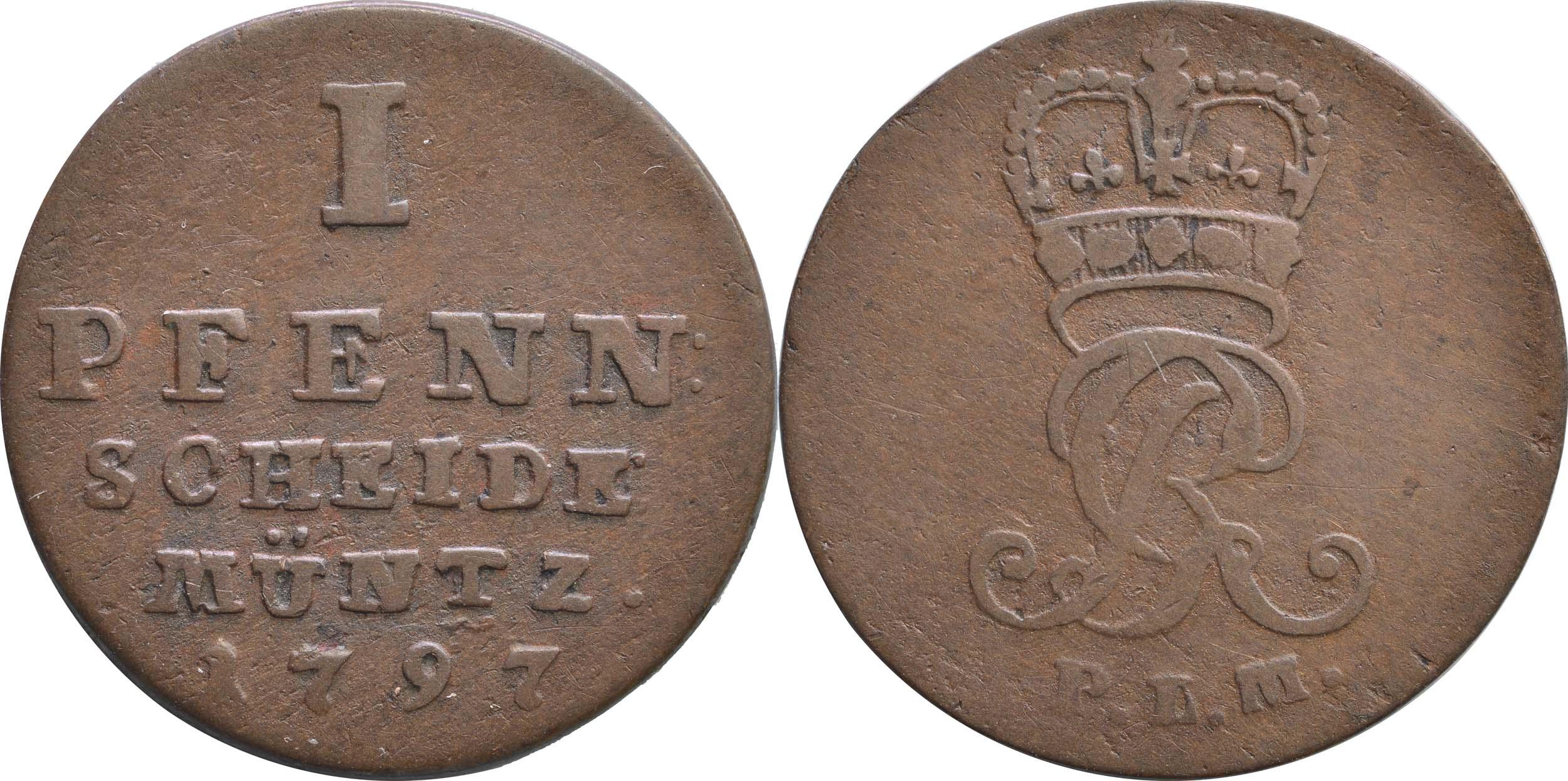 Lieferumfang:Deutschland : 1 Pfennig   1797 ss.