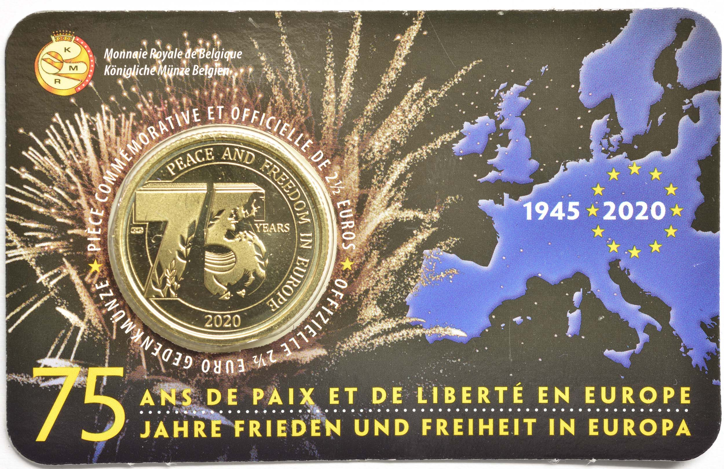 Lieferumfang:Belgien : 2,5 Euro 75 Jahre Ende des 2. Weltkrieges FR-Version  2020 Stgl.