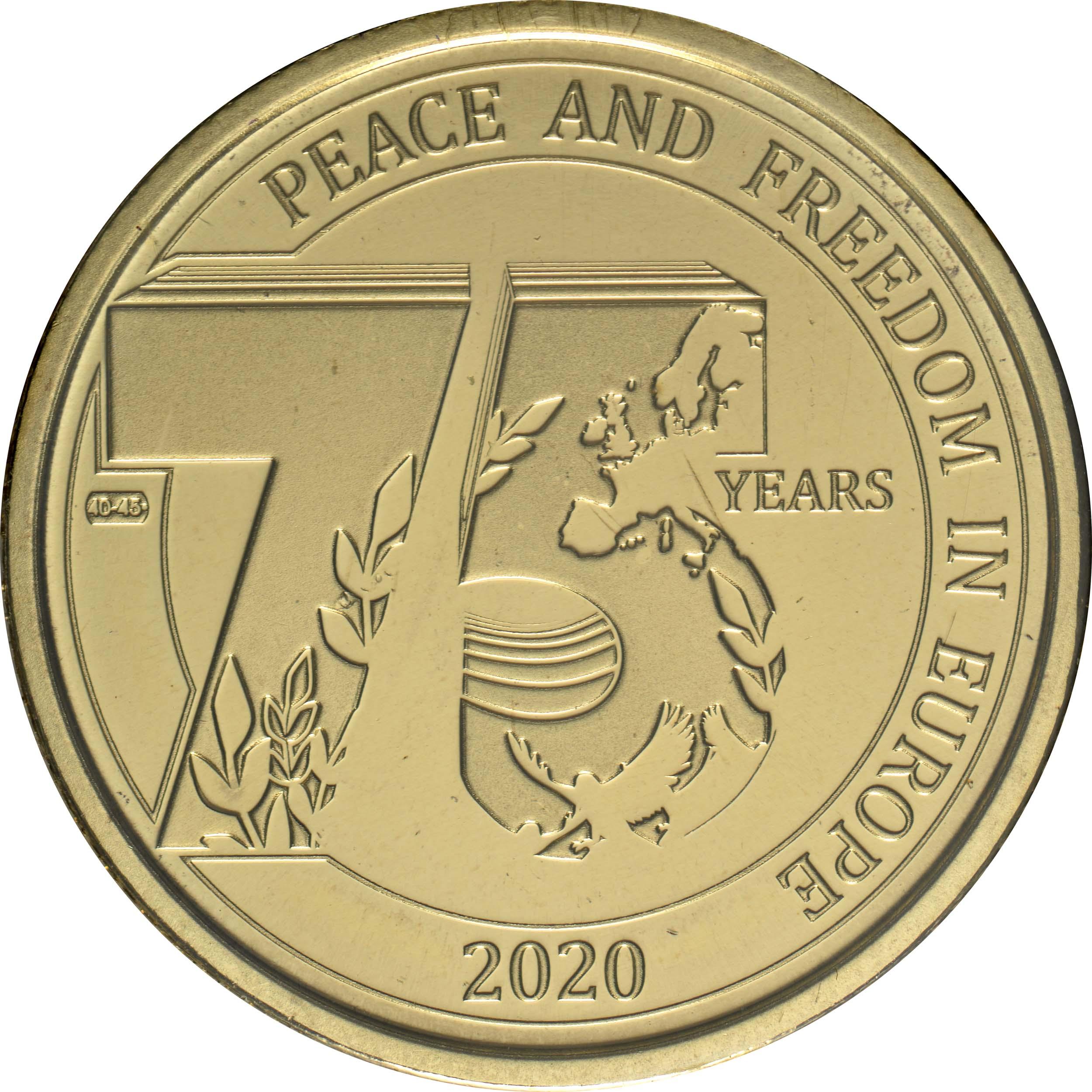 Vorderseite:Belgien : 2,5 Euro 75 Jahre Ende des 2. Weltkrieges FR-Version  2020 Stgl.